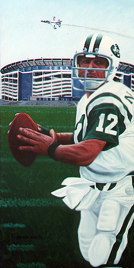 Sports Art Painting of Joe Namath